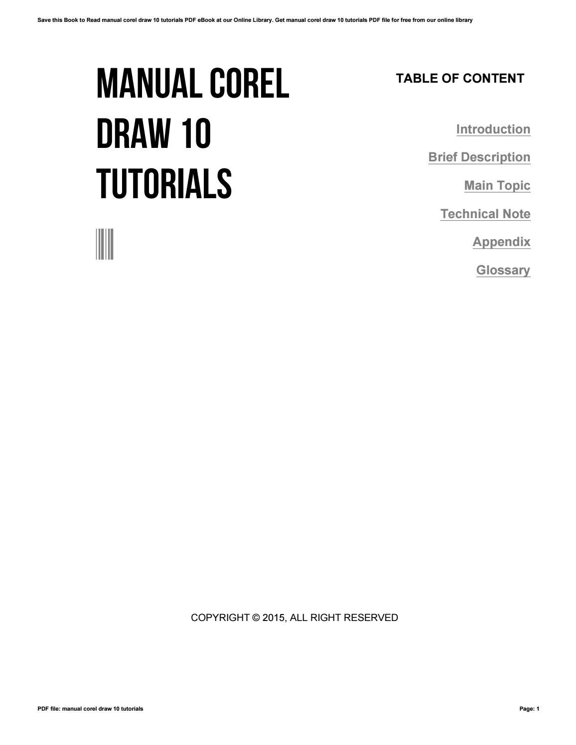 manual corel draw 10 tutorials by apssdc368 issuu rh issuu com