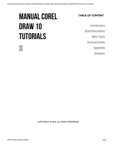 manual corel draw 10 tutorials by apssdc368 issuu rh issuu com Adobe Illustrator CorelDRAW X7