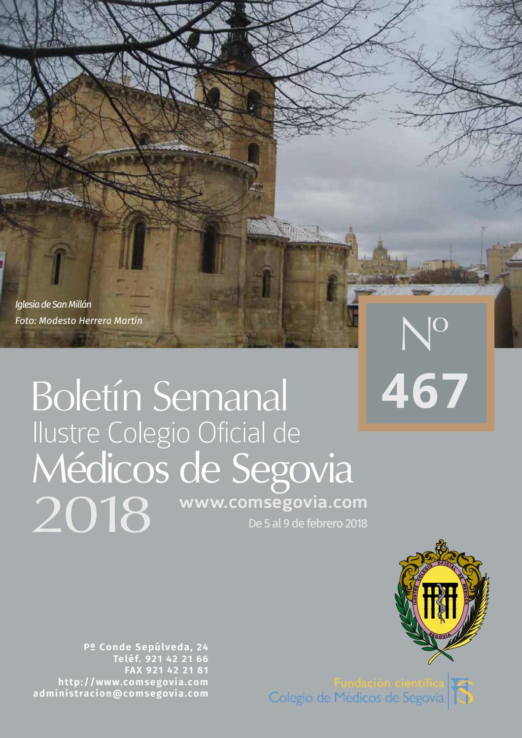 Boletin 467 comsegovia by Colegio de Medicos de Segovia - issuu