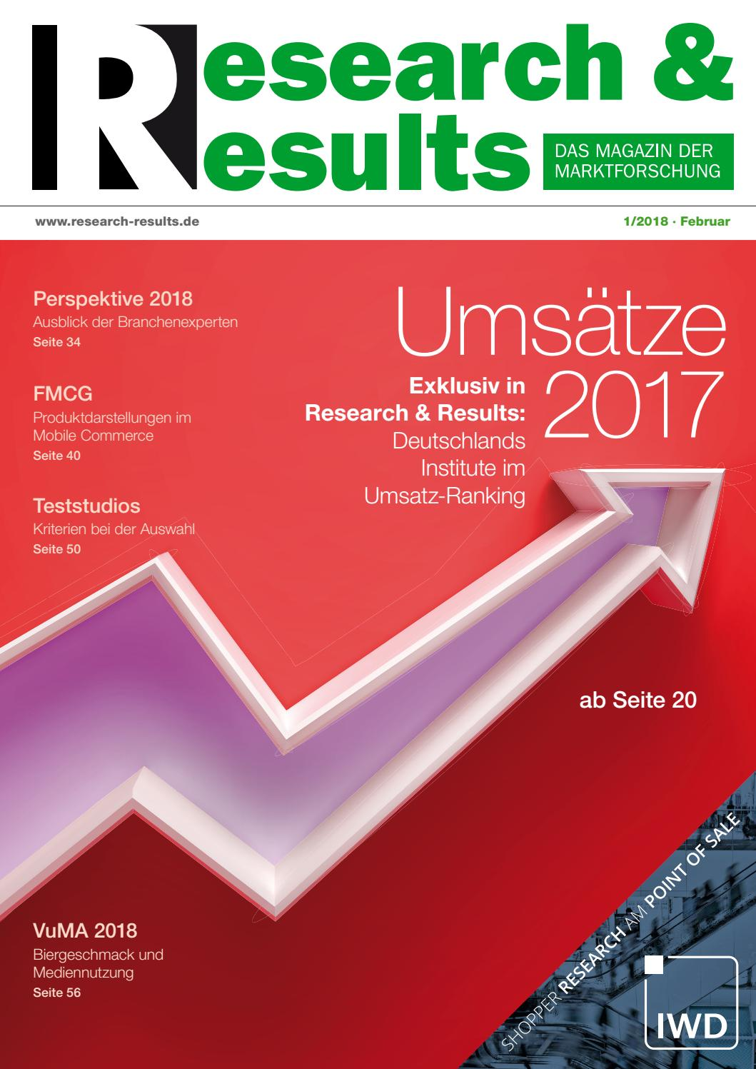 Research & Results 01/2018 by Research & Results - issuu