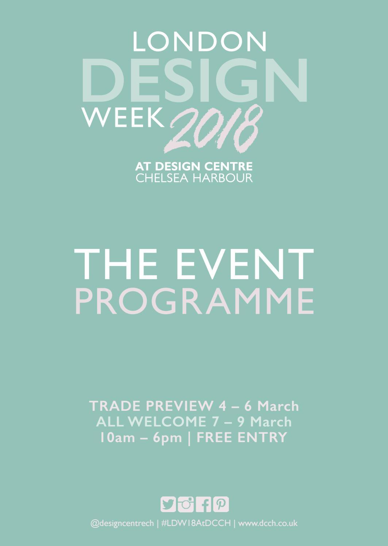 London Design Week 2018 - The Programme by Design Centre Chelsea ...