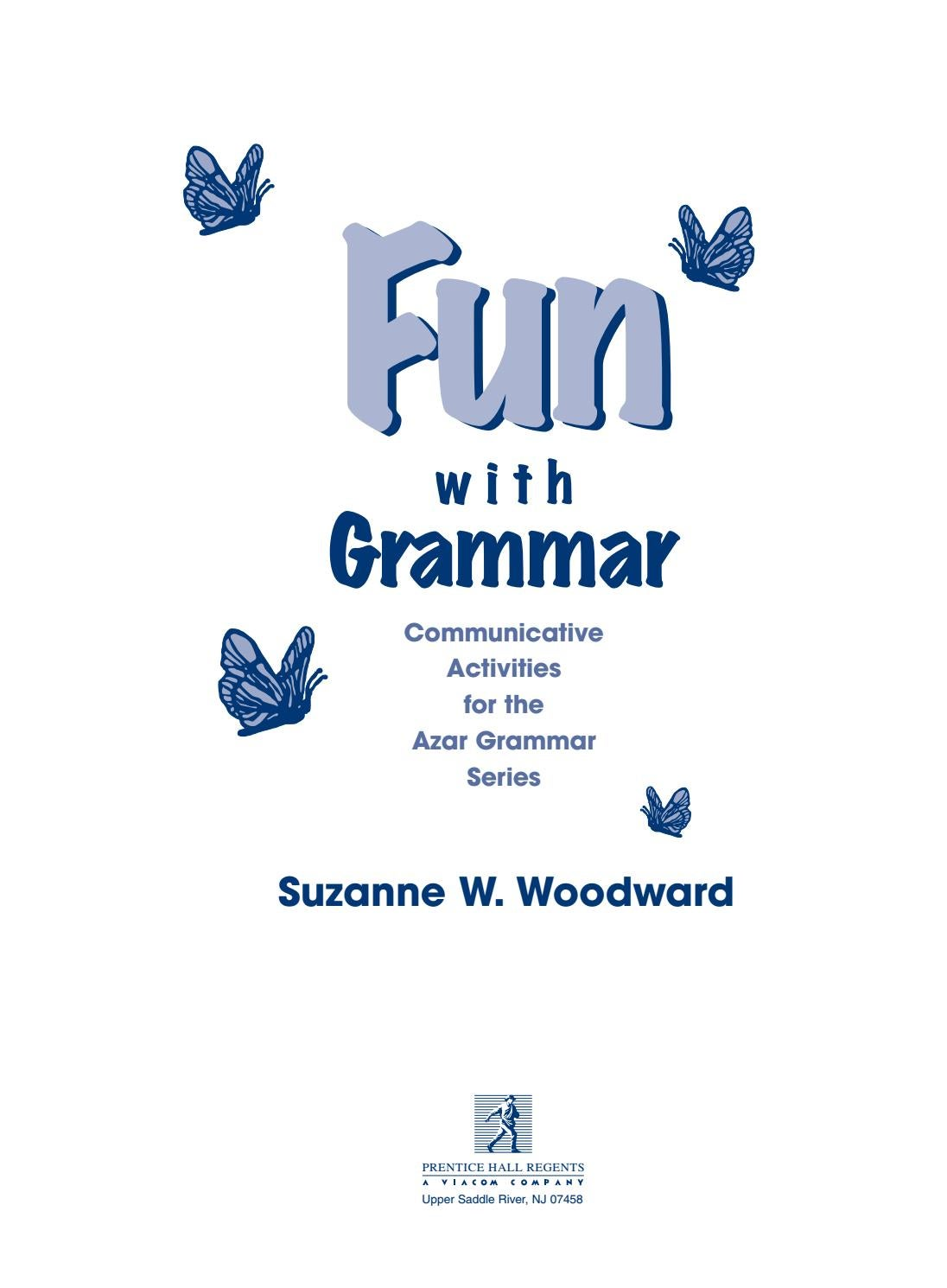 fun with grammar communicative activities for the azar
