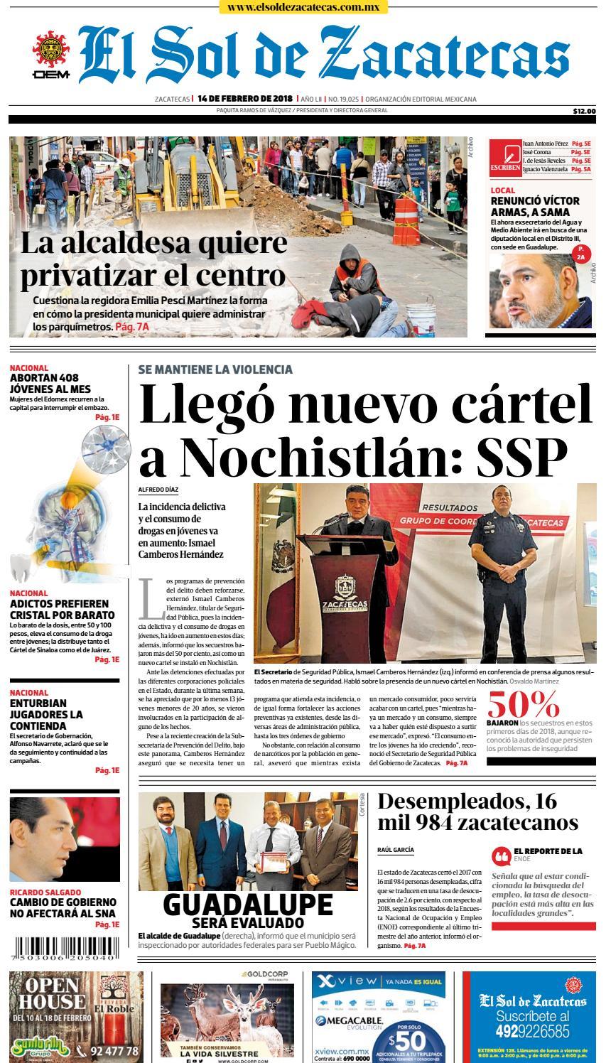 d156d10974f5b El Sol de Zacatecas 14 de febrero 2018 by El Sol de Zacatecas - issuu