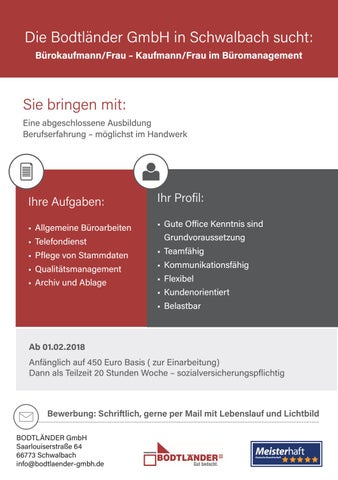 Gesucht Burokaufmann Frau By Saarbrucker Verlagsservice Gmbh Issuu
