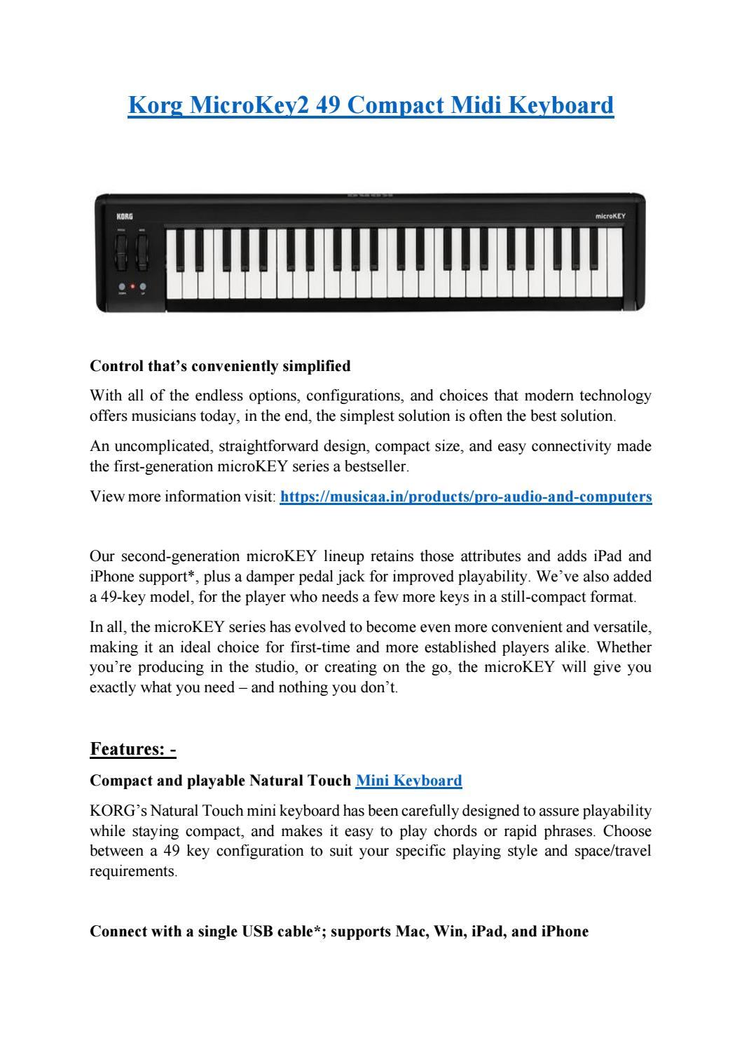 Korg MicroKey2 49 Compact Midi Keyboard by Musicaa - issuu