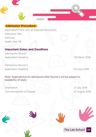Page 26 of Admission Procedure and Deadlines