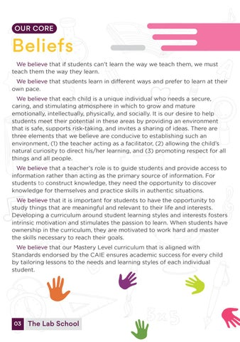 Page 5 of Our Core Beliefs