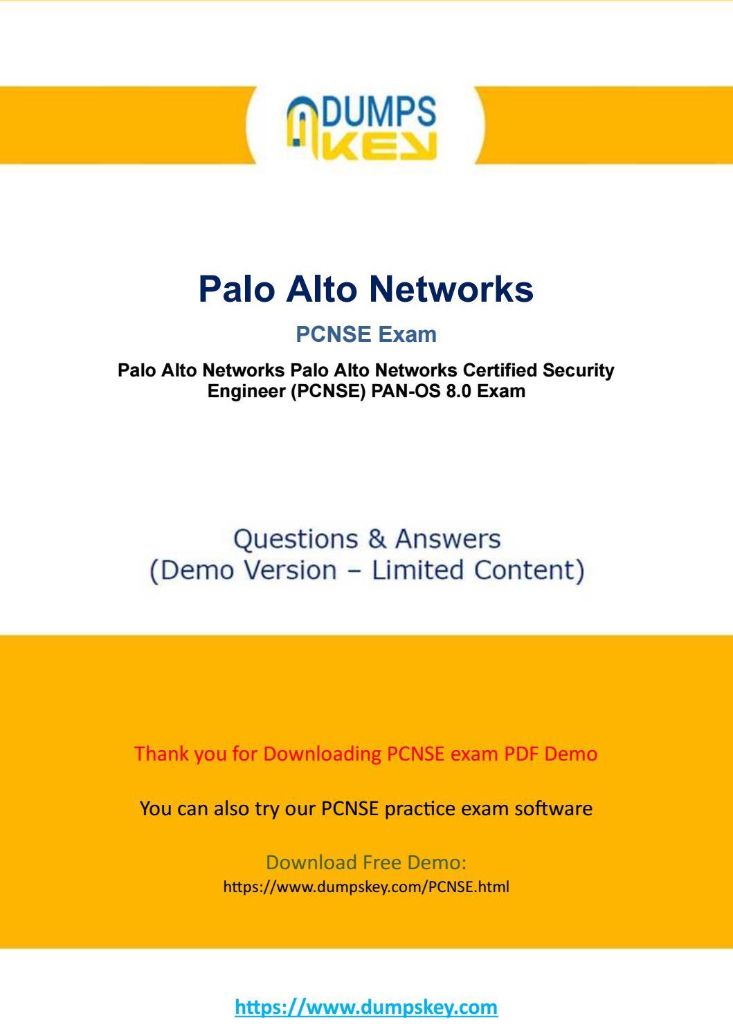 Actual PCNSE Dumps - Palo Alto Networks Certified Network