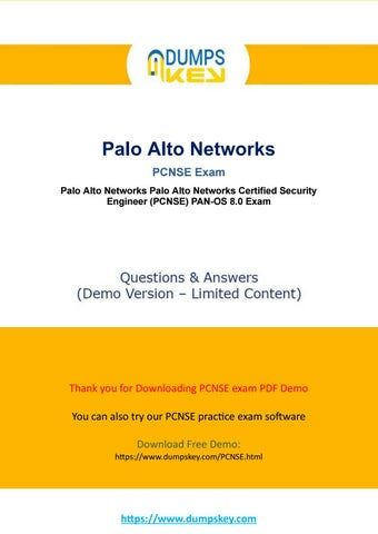 Actual PCNSE Dumps - Palo Alto Networks Certified Network