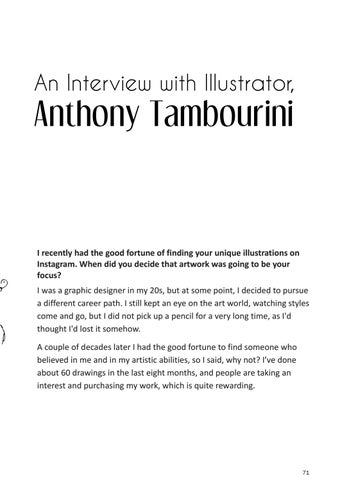 Page 71 of AN Interview with Illustrator, Anthony Tambourini