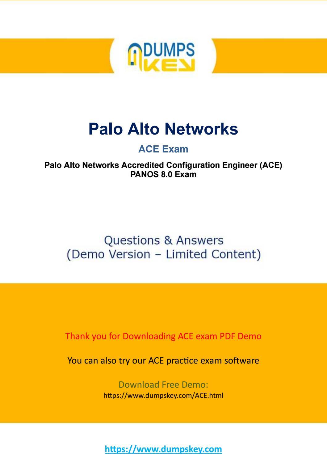 Actual ACE Dumps -Paloalto Networks Accredited Configuration