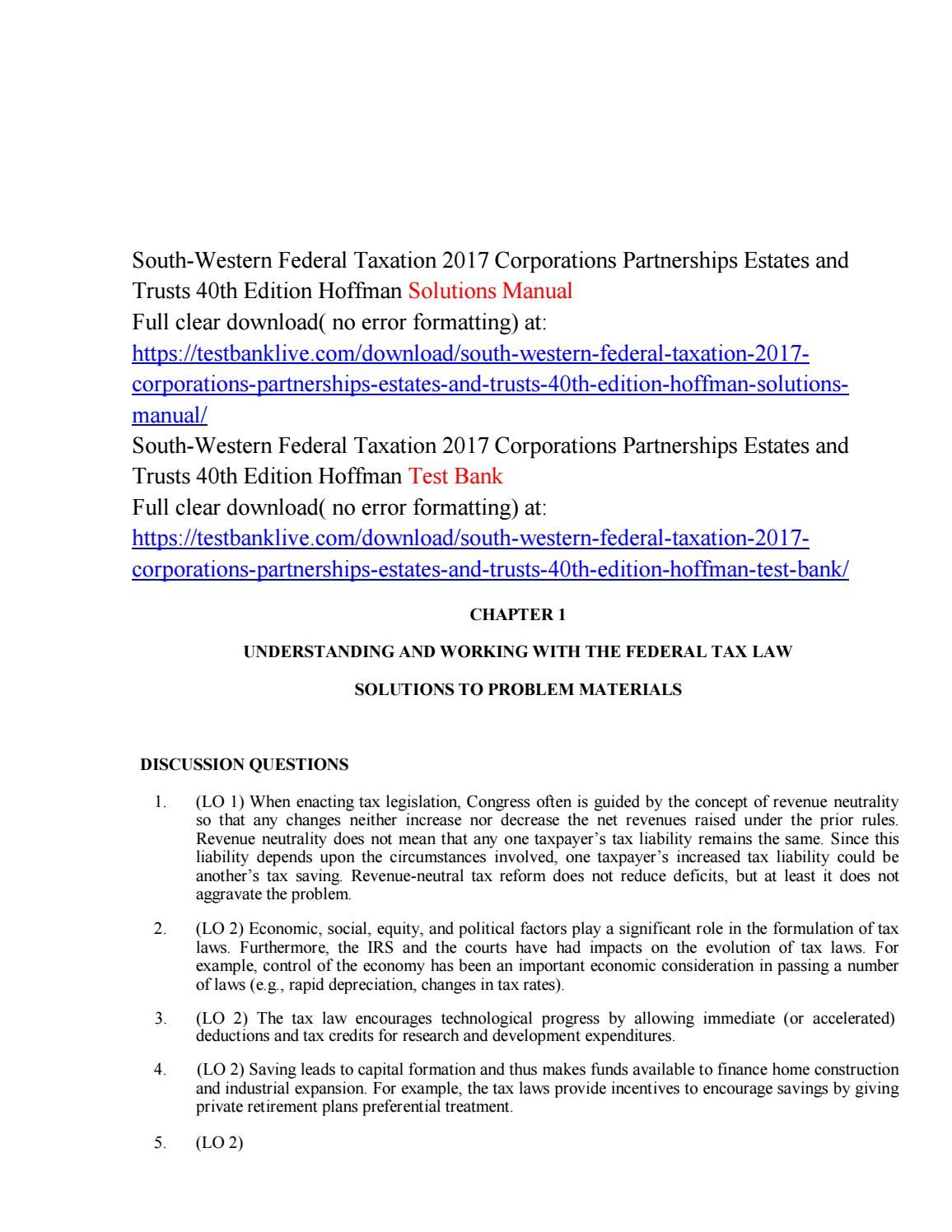South western federal taxation 2017 corporations partnerships south western federal taxation 2017 corporations partnerships estates and trusts 40th edition hoffma by hiwir282 issuu fandeluxe Images