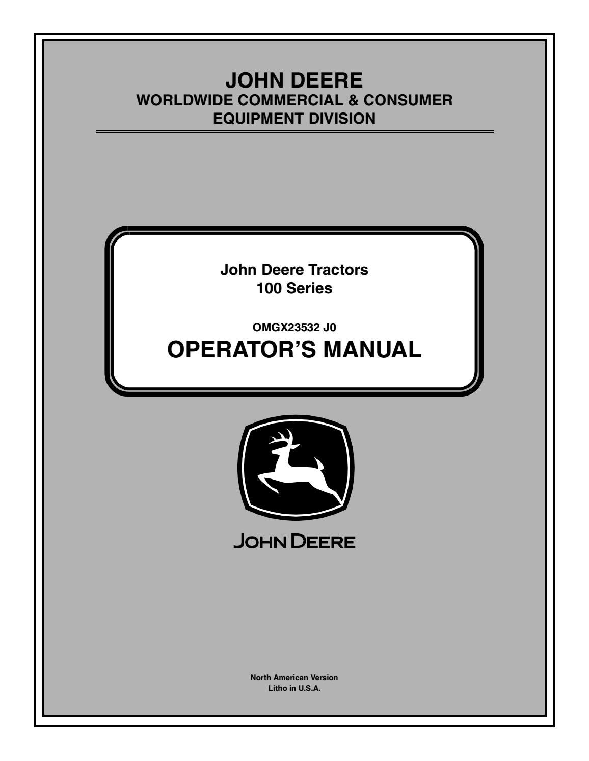 John Deere 100 Manual By Razvan Alexa Issuu A Batteriesand Wiring Harness