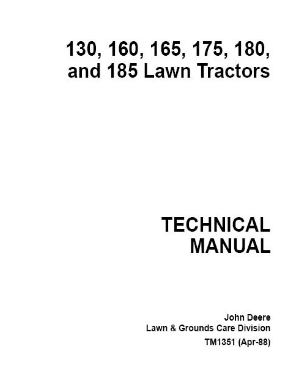 John deere 185 hydro manual by Razvan Alexa - issuu