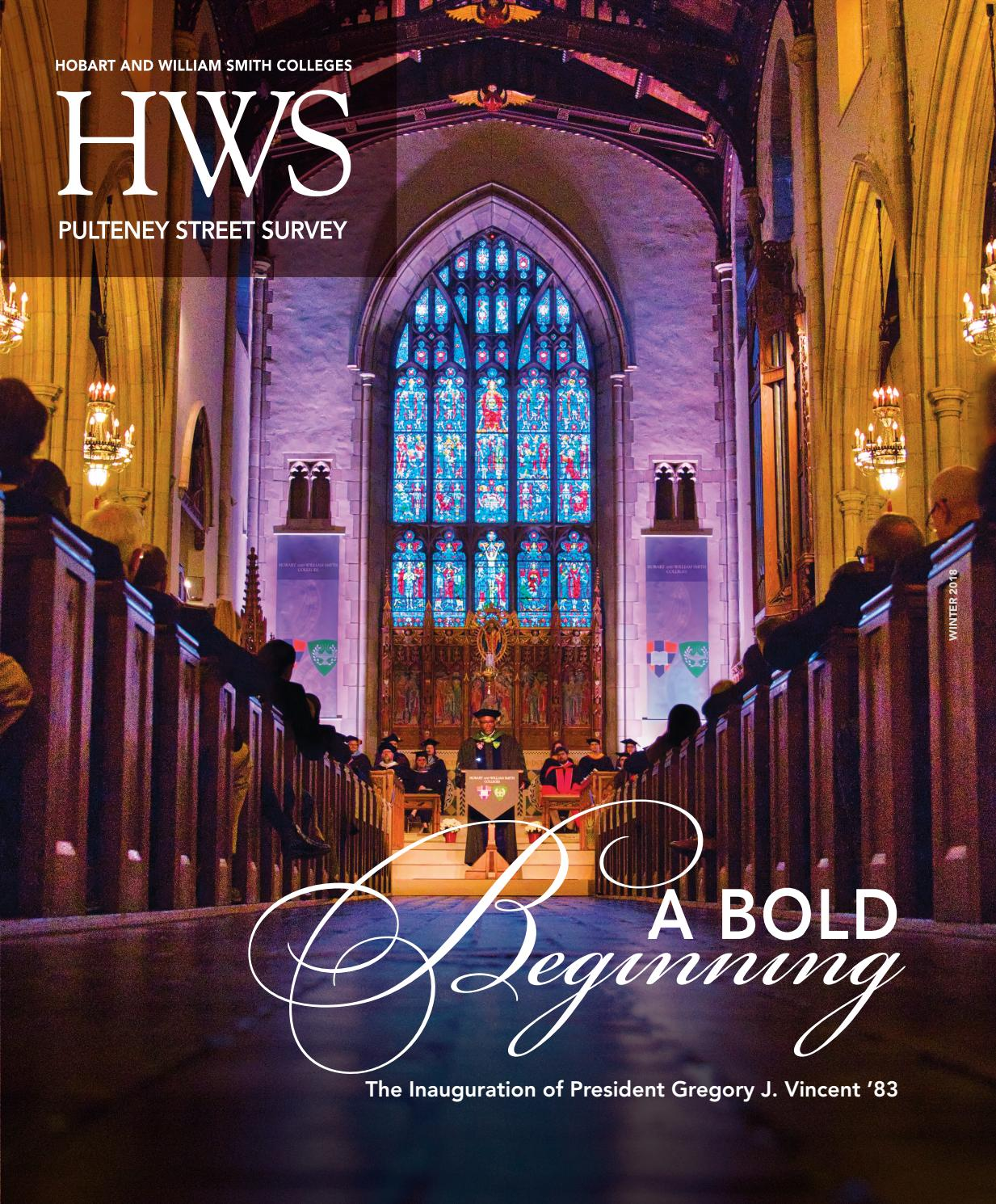 PSS Winter 2018 by Hobart and William Smith Colleges - issuu