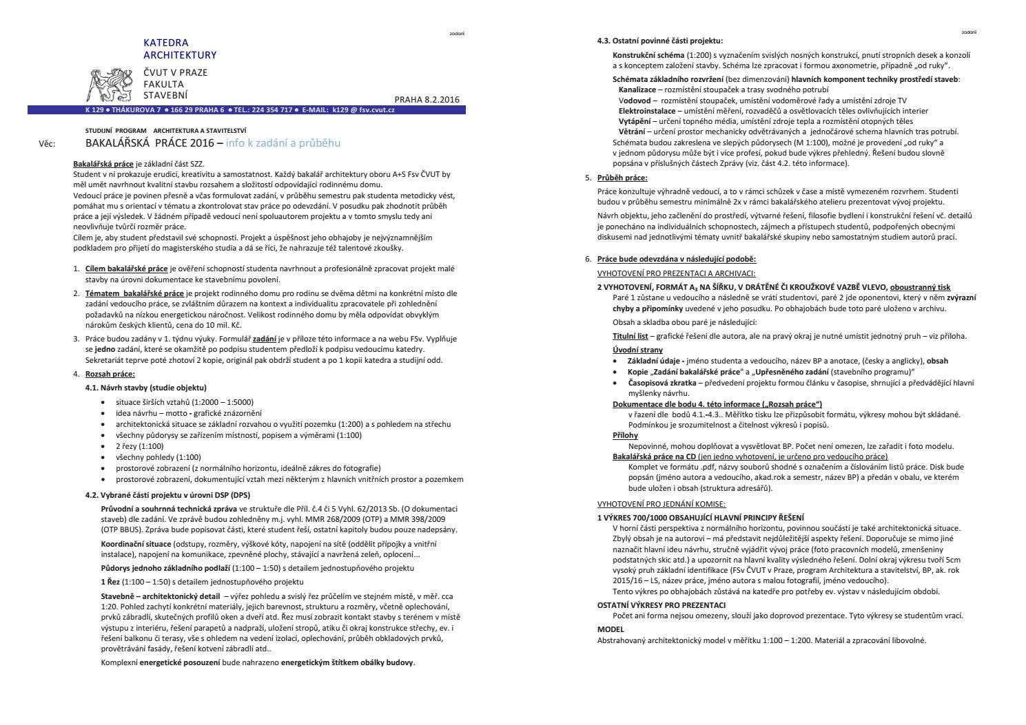 Bakalarska Prace Barbora Cudkova By Cudkova Issuu