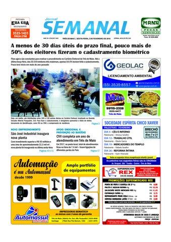 ff002e59c Semanal 2 de fevereiro de 2018 - Ed. 1493 by JORNAL Semanal - issuu