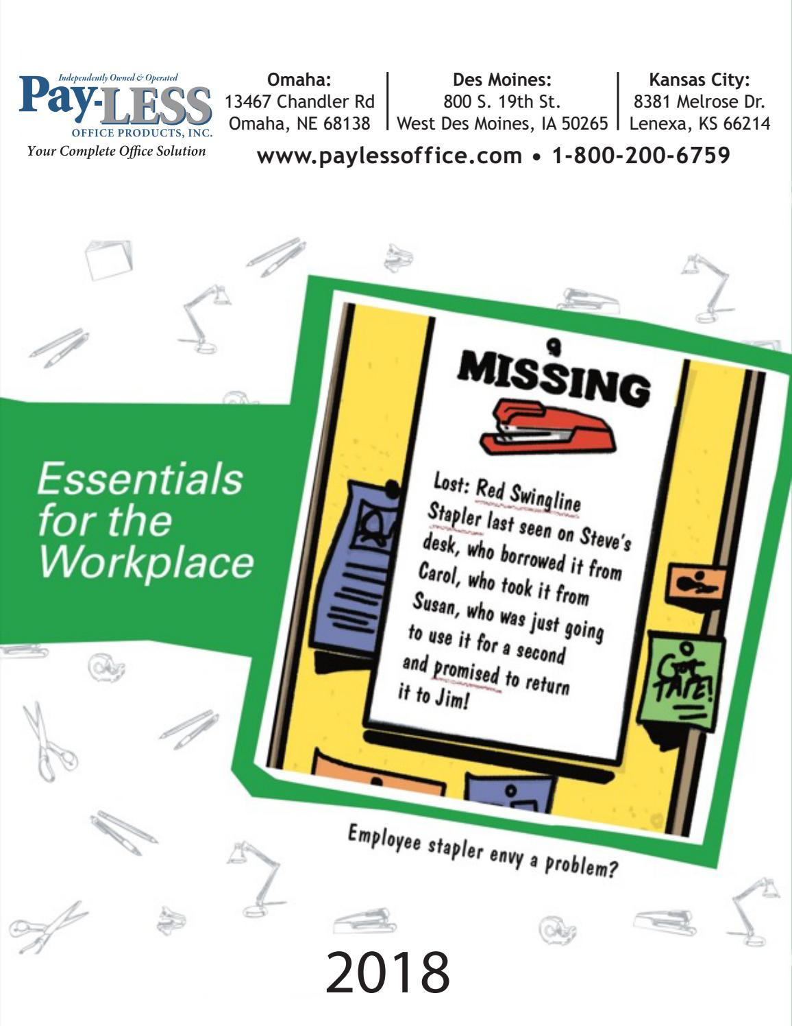 2018 Essentials for the Workplace by Pay-LESS Office Products - issuu