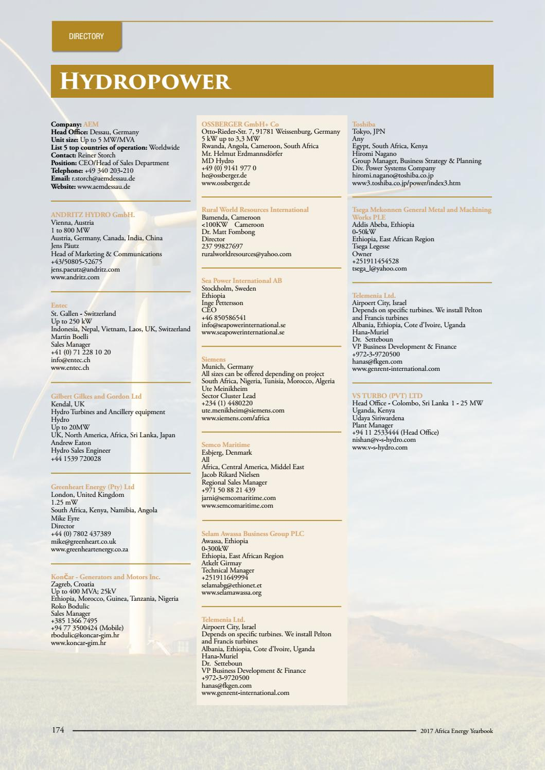 Africa Energy Yearbook 2017 - full book by EnergyNet - issuu