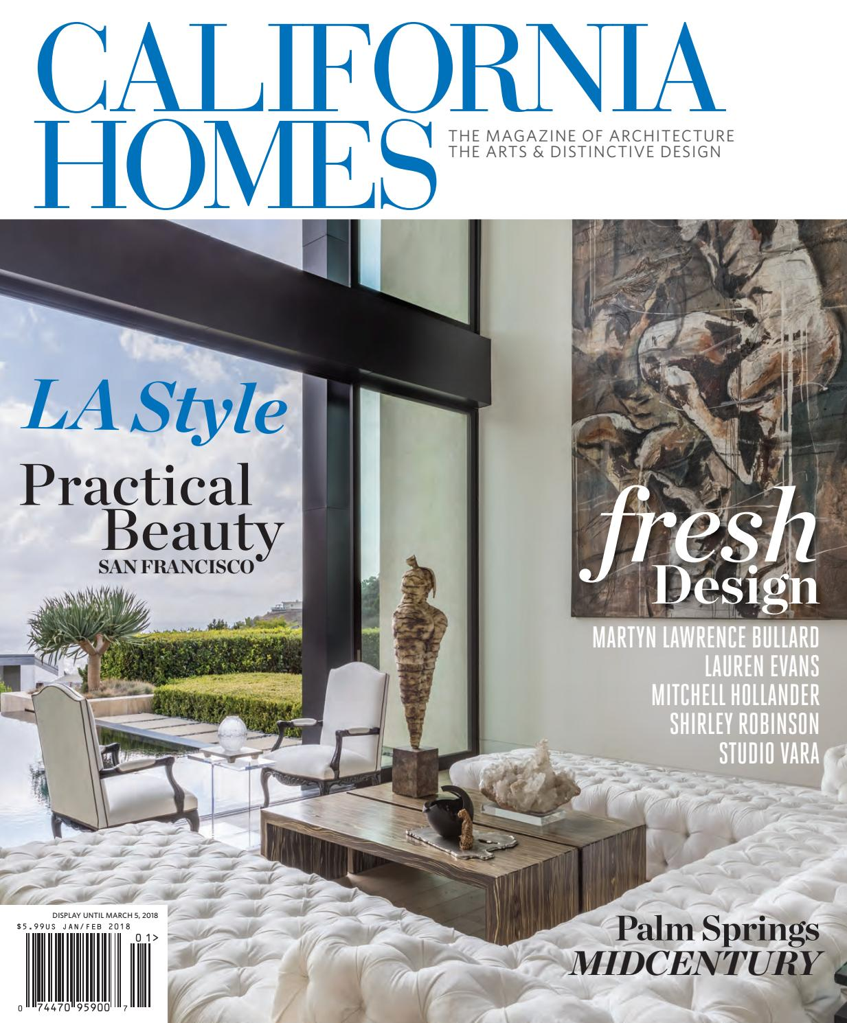 California homes january february 2018 by california for Home builders magazine