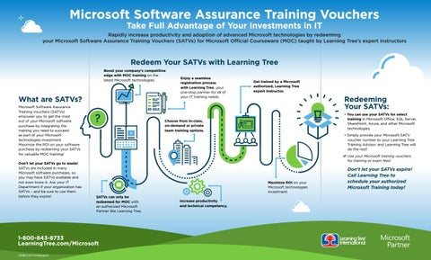 microsoft software assurance training vouchers infographic by