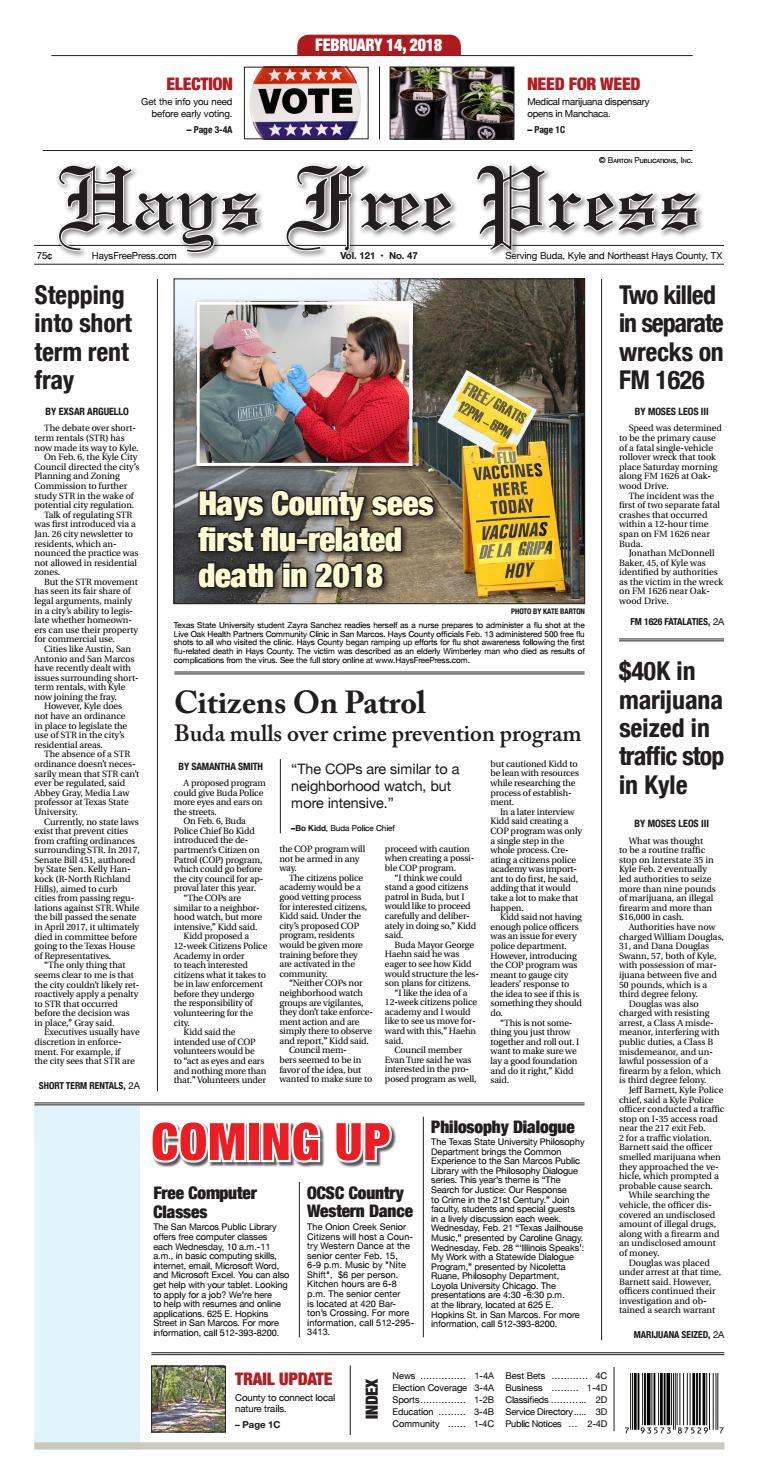 February 14, 2018 Hays Free Press by Hays Free Press/News-Dispatch ...