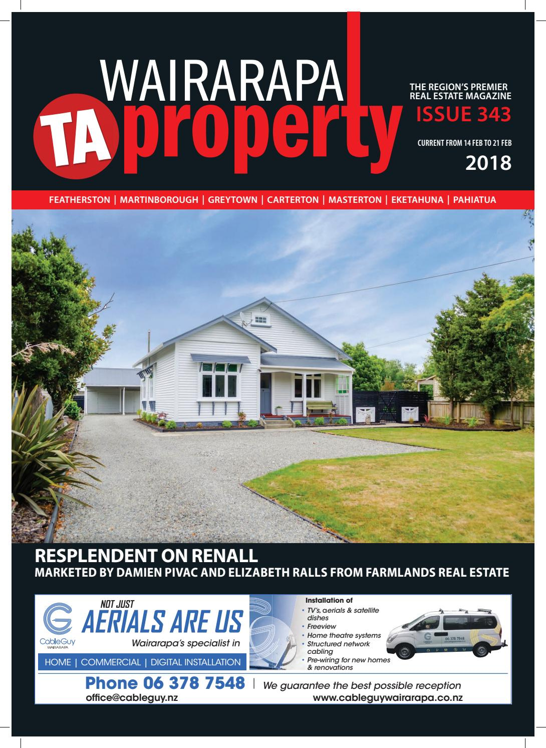 Wairarapa Property Wed 14th February By Times Age Issuu Wiring A New House For Satellite