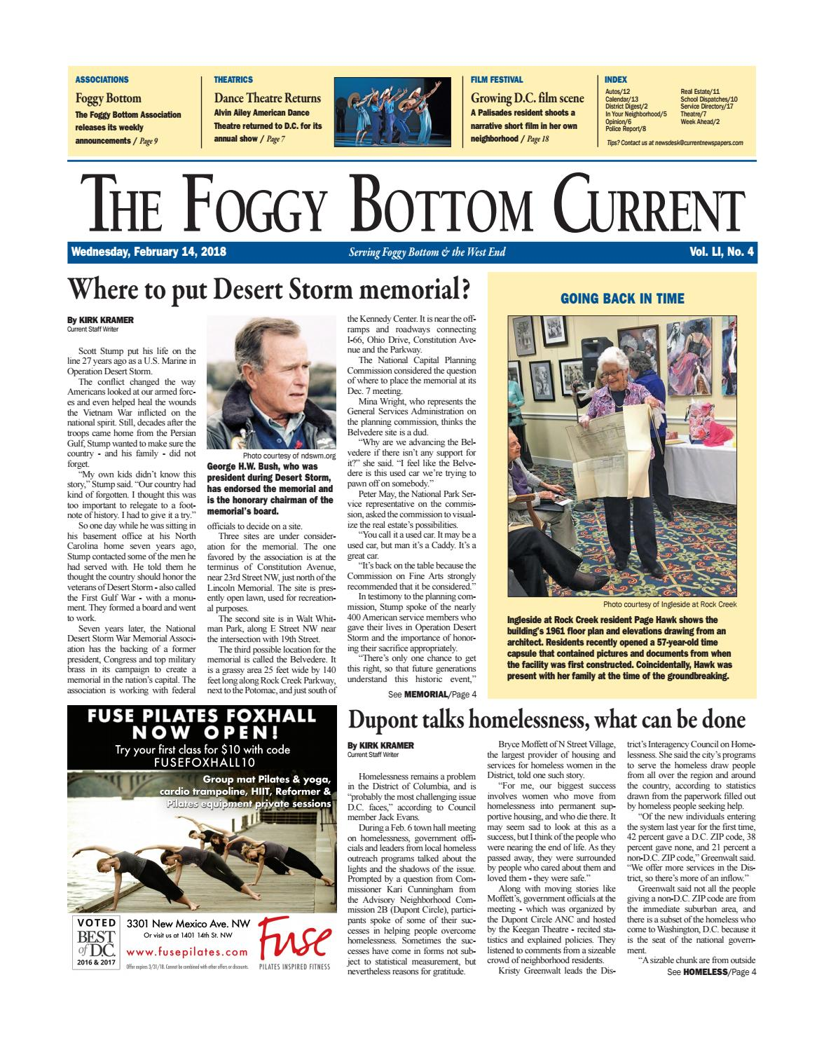 Fb current 2 14 18. Foggy Bottom Current