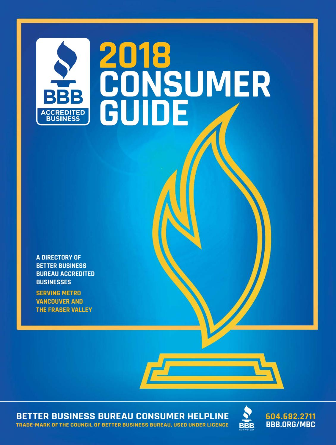 Better Business Bureau Consumer Guide 2018 By Business In