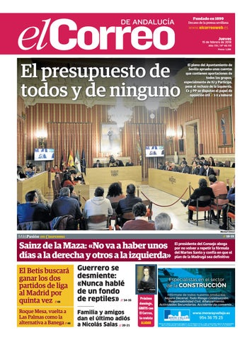 15.02.2018 El Correo de Andalucía by EL CORREO DE ANDALUCÍA S.L. - issuu 278d5521aa645
