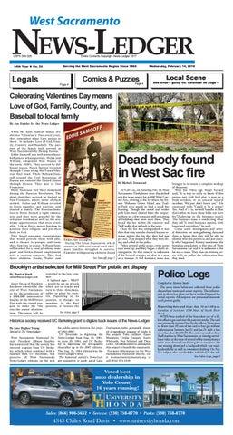 News-Ledger  Wednesday, February 14, 2018  Page 1. NEWS-LEDGER West  Sacramento
