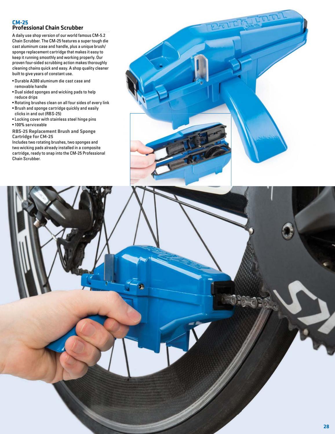 Park Tool CM-25 Replacement Brush and Sponge Cartridge