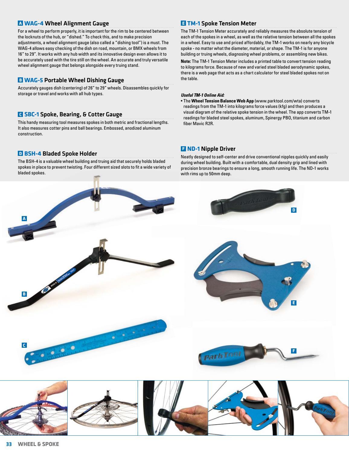 Park Tool WAG-5 Portable Wheel Dishing Gauge