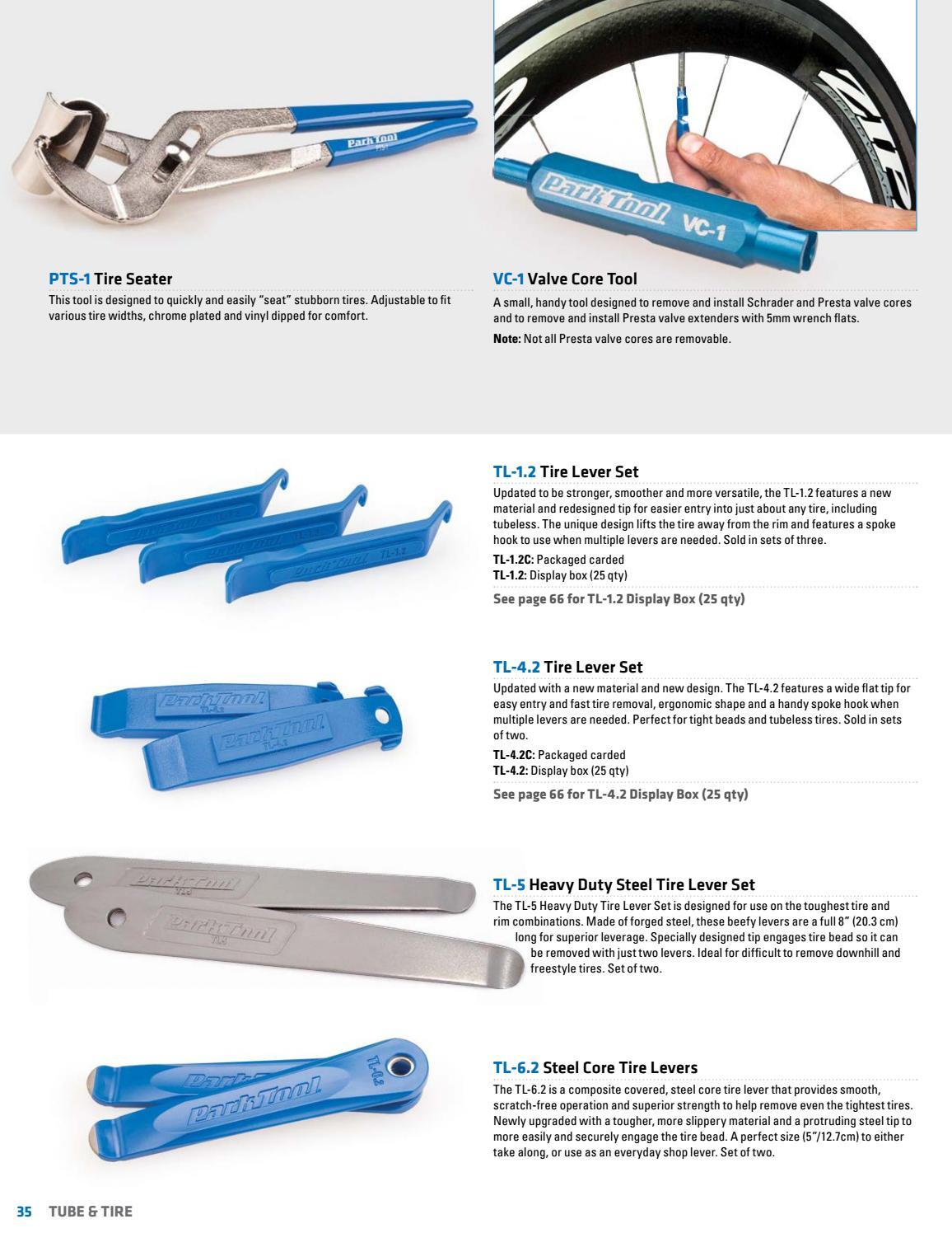 Park Tool TL-6.2 Steel Core Tire Lever Set