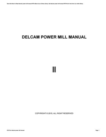 getting started manual powermill