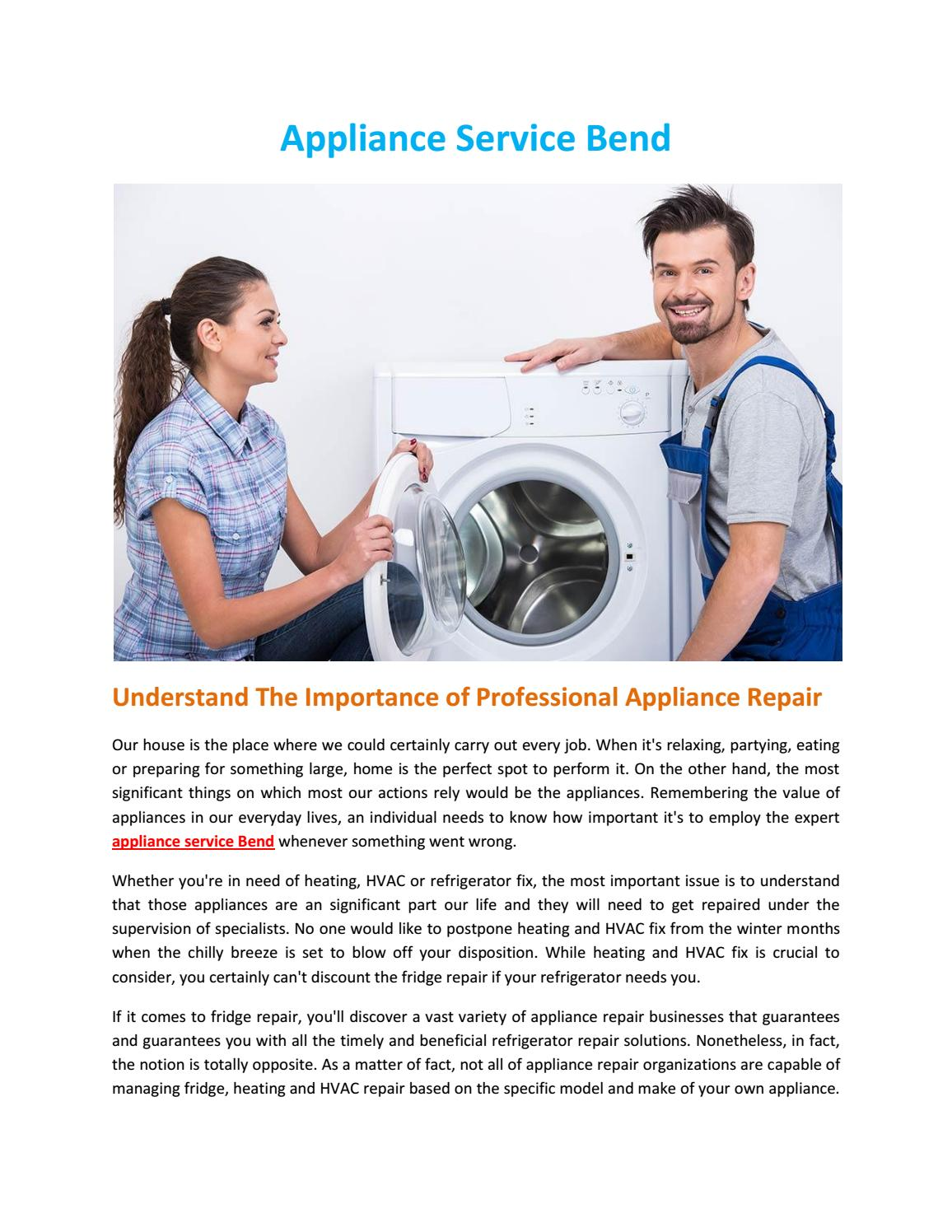 Appliance service bend by Frank Sallee - issuu