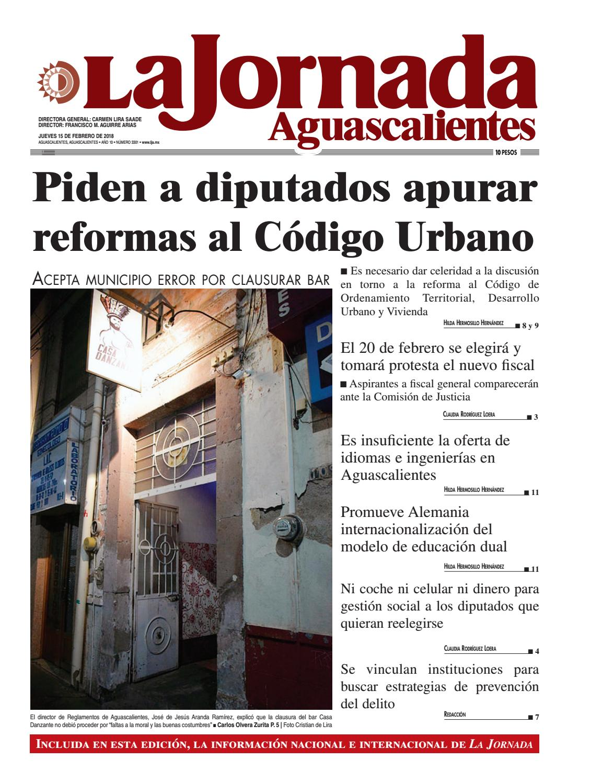 LJA15022018 by La Jornada Aguascalientes - issuu