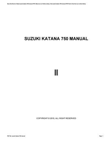 Download buku manual mobil suzuki katana by kirkjacobson4511 issuu cover of suzuki katana 750 manual fandeluxe Gallery
