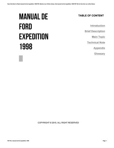 1998 ford expedition manual pdf