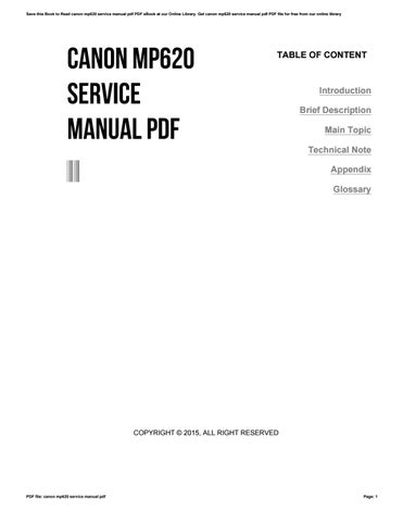 canon mp620 service manual pdf by sroff44 issuu rh issuu com canon mp620 manuel erreur b200 canon pixma mp620 service manual