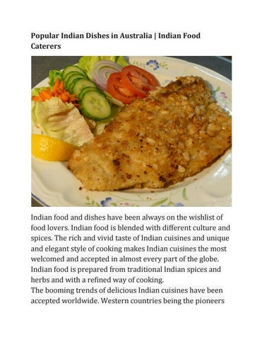 Page 1. Popular Indian Dishes in Australia ...  sc 1 st  Issuu & Indian Dishes in Australia | Indian Food Caterers by rakesh ...