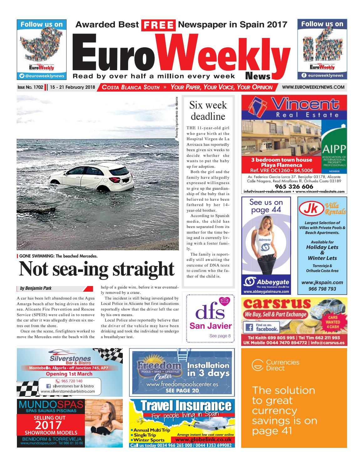 new product 3f3be da8e1 Euro Weekly News - Costa Blanca South 15 - 21 February 2018 Issue 1702