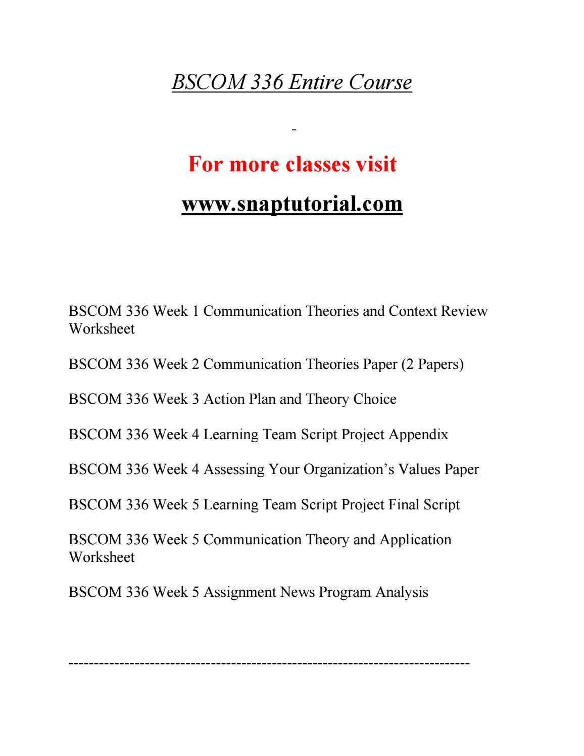 worksheet Script Analysis Worksheet bscom 336 education on your terms snaptutorial com by richardsonmacdona ld43566 4 5 issuu