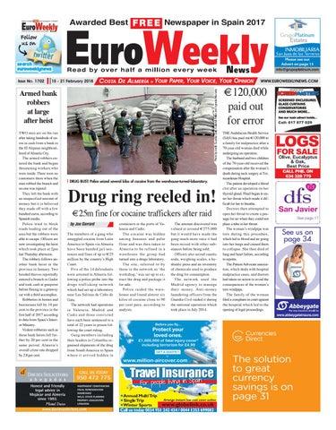 Euro weekly news costa de almeria 15 21 february 2018 issue 1702 page 1 fandeluxe Gallery