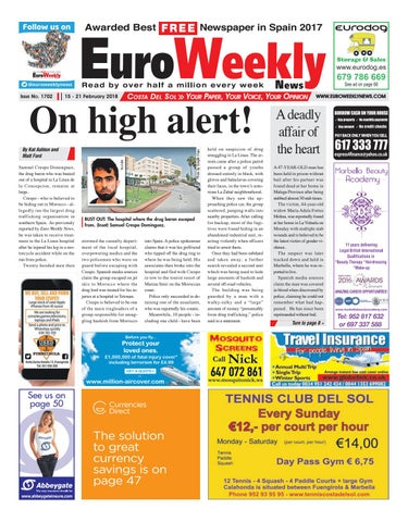 Euro weekly news costa del sol 15 21 february 2018 issue 1702 by page 1 fandeluxe Gallery