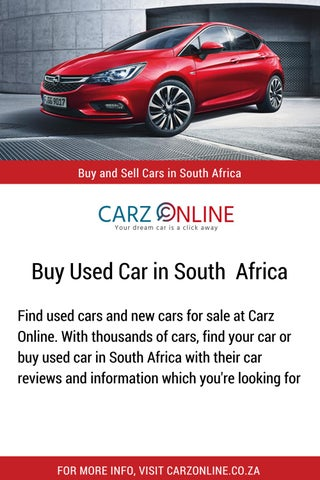 Buy Used Car In South Africa By Carzonline Issuu