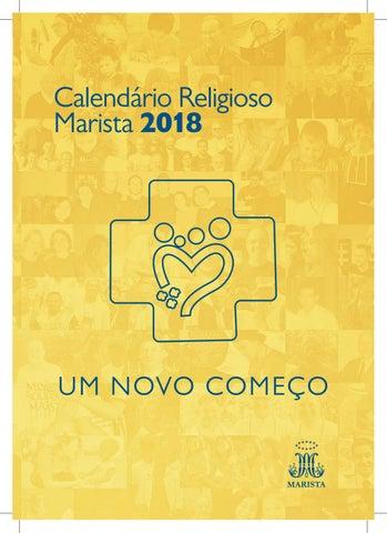 Calendario Religioso.Calendario Religioso Marista 2018 By Pastoral Juvenil