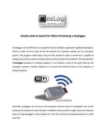 Guide to Hardware & Software Keylogger - KeeLog by Kee Log - issuu