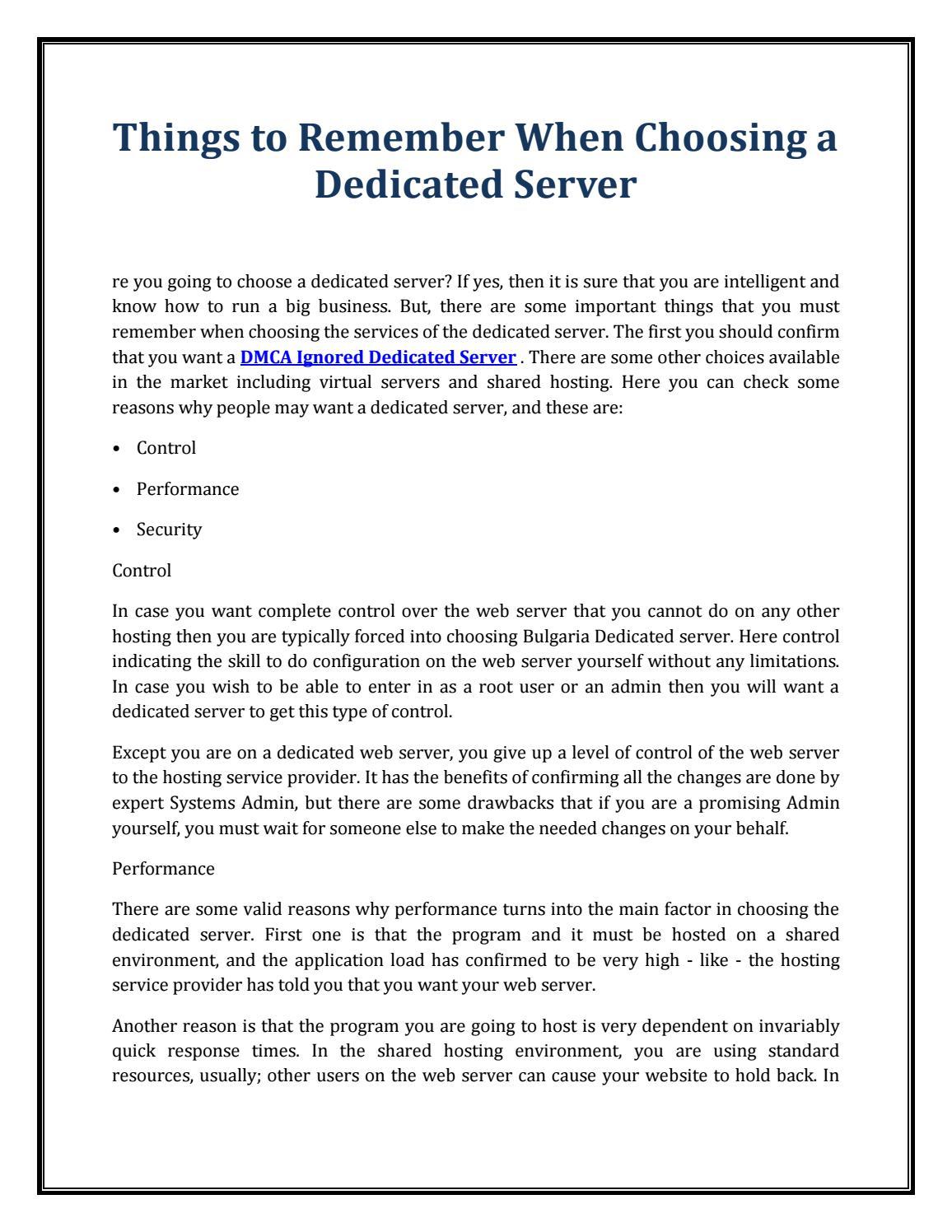 Dmca ignored dedicated server by johnnyrbalke - issuu
