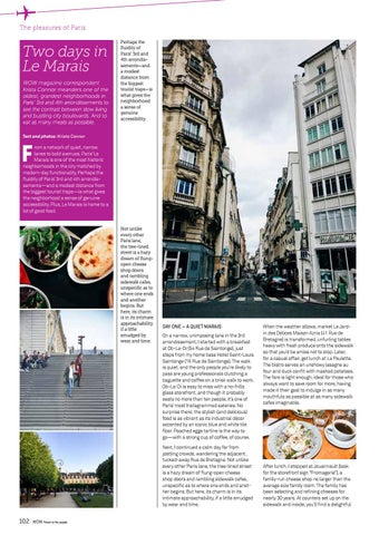 the best attitude 8835f 3ac3e The pleasures of Paris. Two days in Le Marais WOW magazine correspondent  Krista Connor meanders one ...